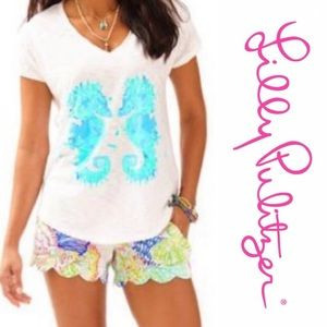 Lilly Pulitzer Seahorse tee Sz M